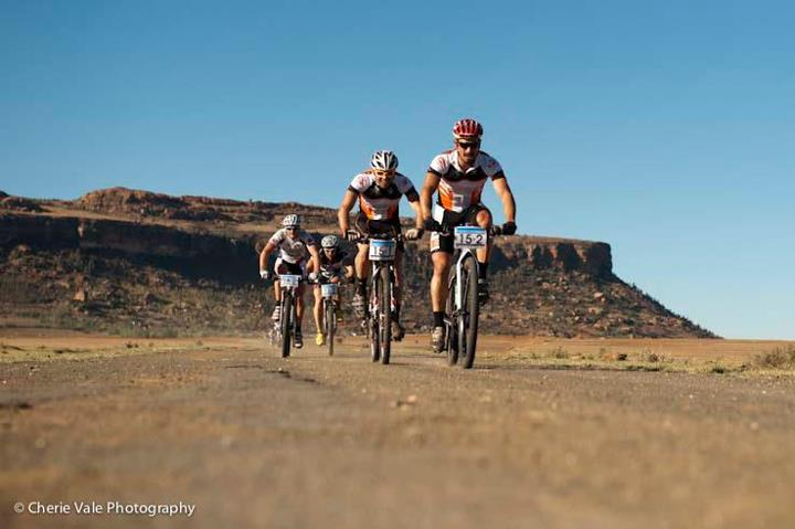 Mountain Bike Riders in Lesotho