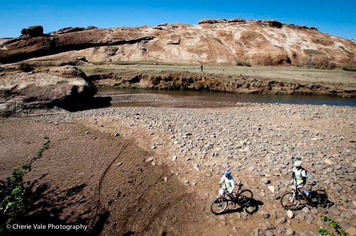 River riding in Lesotho