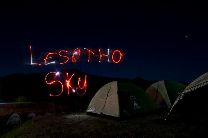 Lesotho Sky Night lights
